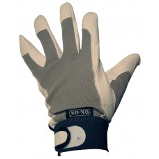 Ox-On Kenwo Leather Palmed/Spandex back Gardening Glove